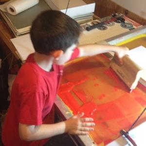 Screen Printing kid